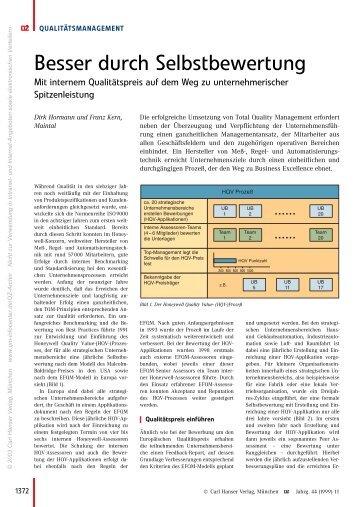 Besser durch Selbstbewertung - QZ-online.de