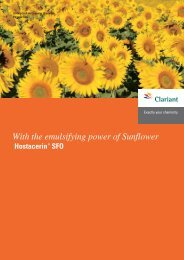 With the emulsifying power of Sunflower Hostacerin® SFO - Clariant