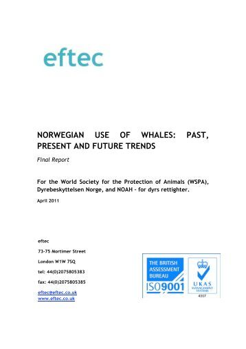 norwegian use of whales: past, present and future trends - WSPA