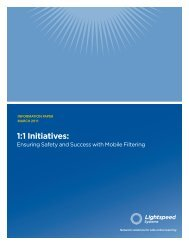 1:1 Initiatives: - Data Networks