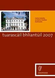 Tuarascáil Bhliantúil 2007 - Department of Foreign Affairs