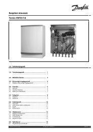 Beépítési útmutató Termix VMTD-F-B