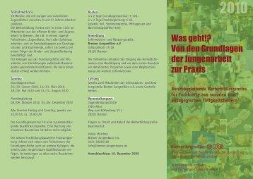 Fortbildung Jungenarbeit - Bremer JungenBüro