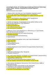 Lernerfolgskontrolle- 30 - Interdisziplinäres Stoffwechsel-Centrum
