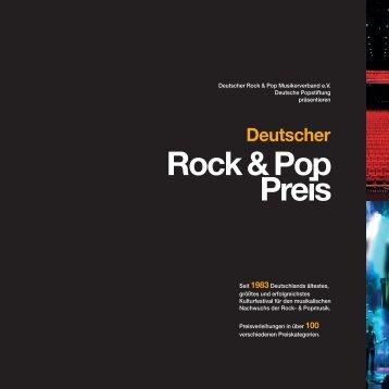 Deutscher Rock & Pop Preis - Expose