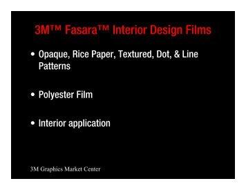 3M™ Fasara™ Interior Design Films - Tints Arizona