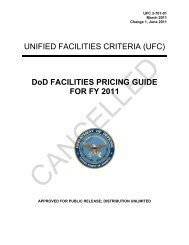 UFC 3-701-01 DoD Facilities Pricing Guide, FY2011, with Change 1