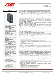 Fiche technique MUXy box - NSI