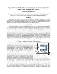 Impact of Antenna Configuration and Shadowing on the ... - URSI
