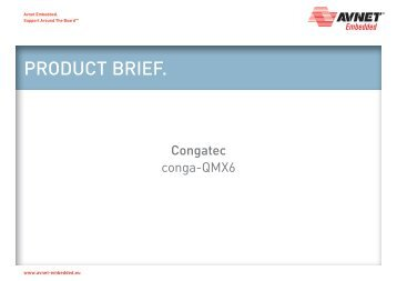 Congatec conga-QMX6 - Avnet Embedded