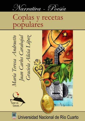 Coplas y recetas populares - Universidad Nacional de Río Cuarto
