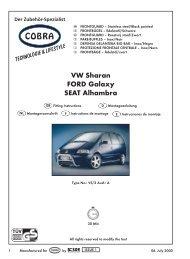 VW Sharan Frontbg. Cobra/6/2000 - Cobra-SOR