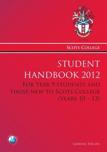 STUDENT HANDBOOK 2012 - Scots College