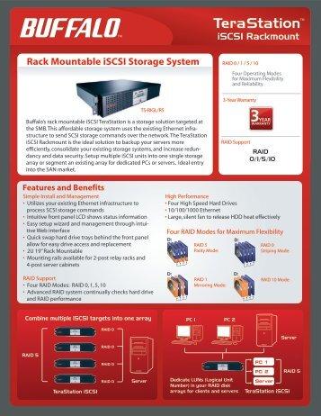 Rack Mountable iSCSI Storage System - Buffalo
