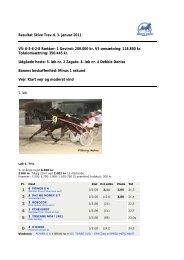 Resultat Skive Trav d. 3. januar 2011 V5: 6-3-6-2-8 Rækker: 1 ...