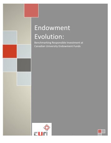 Endowment Evolution: - Carleton University