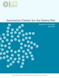 Innovation Center for the Safety Net - Request for Proposals