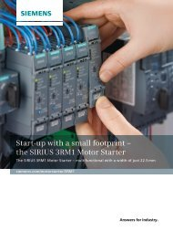 Start-up with a small footprint – the SIRIUS 3RM1 Motor ... - Industry