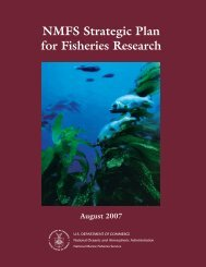 NMFS Strategic Plan for Fisheries Research 2007 - Office of Science ...