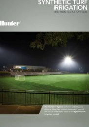 SyNTHETIC TURF IRRIGATION - Hunter Industries