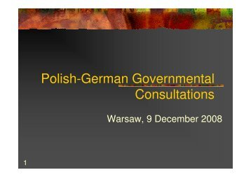Polish-German Governmental Consultations