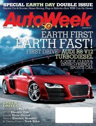 SPECIAL EARTH DAY DOUBLE ISSUE - AutoWeek