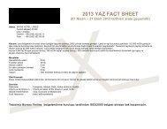 2013 YAZ FACT SHEET - Rixos Hotel