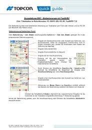 Kurzanleitung 0907 - Stationierungen mit TopSURV