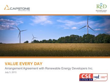 Presentation - Capstone Infrastructure Corporation