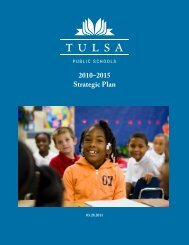 2010–2015 Strategic Plan - Tulsa Public Schools