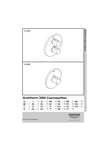 Grohtherm 3000 Cosmopolitan - Grohe