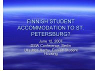 FINNISH STUDENT ACCOMMODATION TO ST. PETERSBURG?