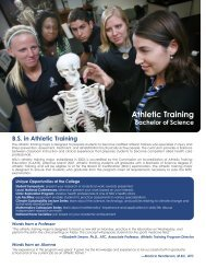 Athletic Training - College of Arts and Sciences - Nova Southeastern ...
