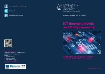 ICT Emerging trends and Entrepreneurship