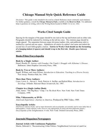 chicago manual style research papers This video shows you how to format your paper in the chicago manual style (cms) of formatting in word 2007 or 2010.