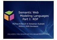 RDF - Foundations of Semantic Web Technologies