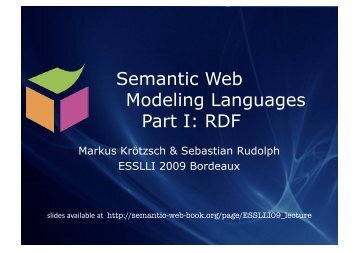 RDF - Foundations of Semantic Web Technologies