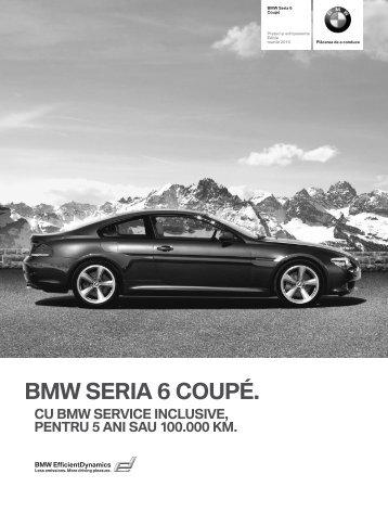 Descarca Lista de preţuri curente pentru modelul BMW Serie 6 Coupé
