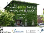 Towards green buildings policies and strategies - RE-GREEN