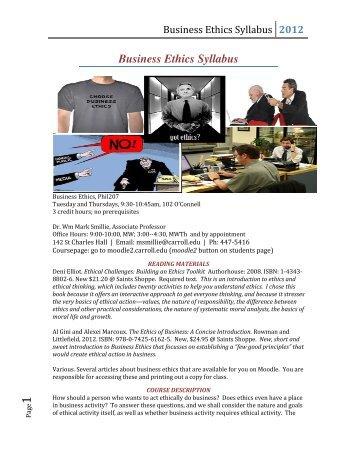 business ethics mf361 syllabus