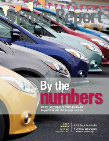 Status Report newsletter, Vol. 47, No. 7, September 20, 2012