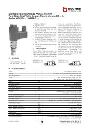 2/2 Solenoid Cartridge Valve, 10 mm - BUCHER HYDRAULICS