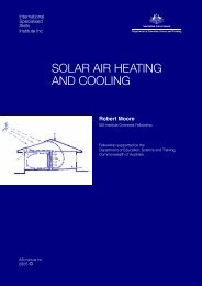 solar air heating and cooling - International Specialised Skills Institute
