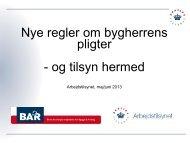 Bygherre - BAR Bygge & Anlæg