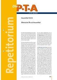 Hausmittel Teil III Ätherische Öle als Hausmittel - Die PTA in der ...