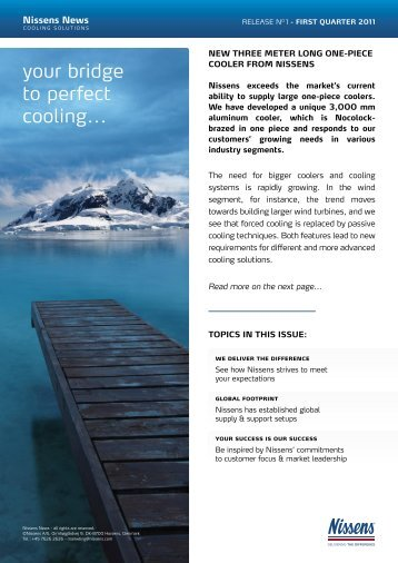 Nissens News - Cooling Solutions
