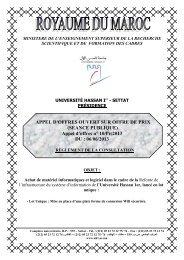 APPEL D'OFFRES OUVERT SUR OFFRE DE PRIX - Université ...
