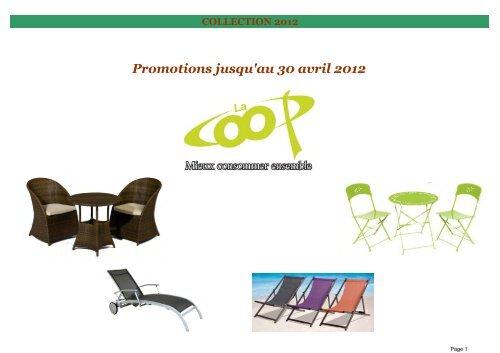 Promo salon de jardin non bois-V1 - La Coop Niortaise