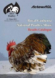 Results Catalogue - Royal National Capital Agricultural Society