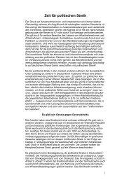 Zeit für politischen Streik - Welt der Arbeit